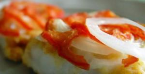 запеканка из минтая с помидорами