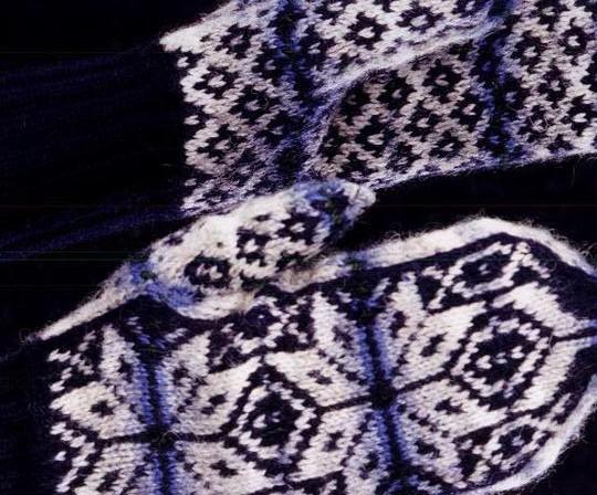 Схемы для рукавиц спицами.Жаккардовые узоры для варежек.