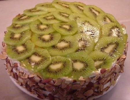 торт,киви
