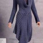 Платье спицами.