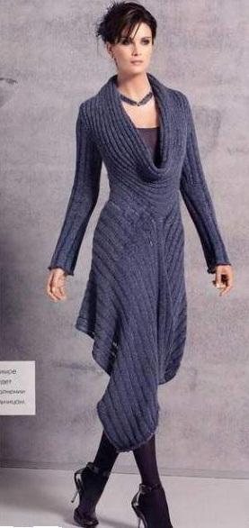 шикарное платье связанное спицами