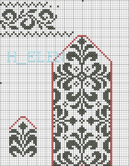 Рисунки со схемами для варежек