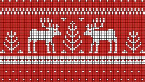 Схемы для вязания орнамент олени