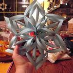 Как сделать трехмерную бумажную снежинку