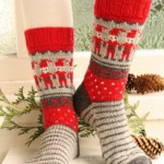Вязанные носки. Жаккард