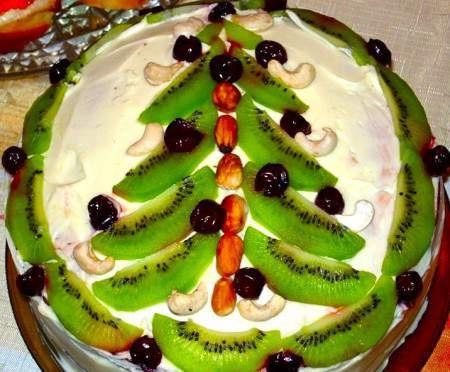 "домашний торт ""новогодняя елка"""