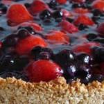 Пирог с ягодами из песочного теста