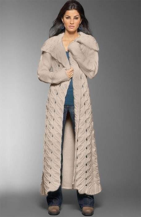 не просто вязаное пальто,