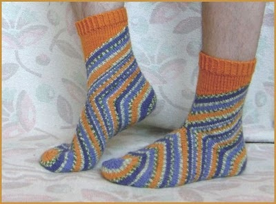 вот такинеобычные получились носочки
