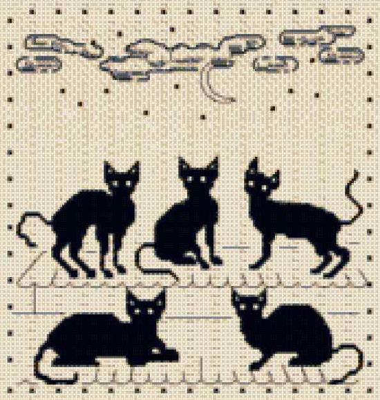"""вязать жаккардовый узор """"кошки"""" спицами, схемы, рисунки, орнаменты для рукоделия"""