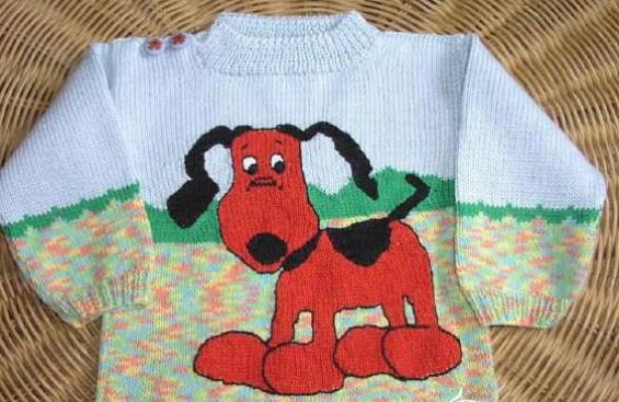 схема для вязания спицами собака