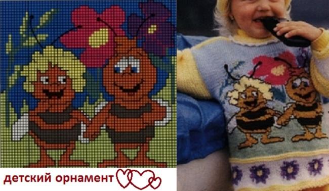детское вязание схемы орнаментов бесплатно