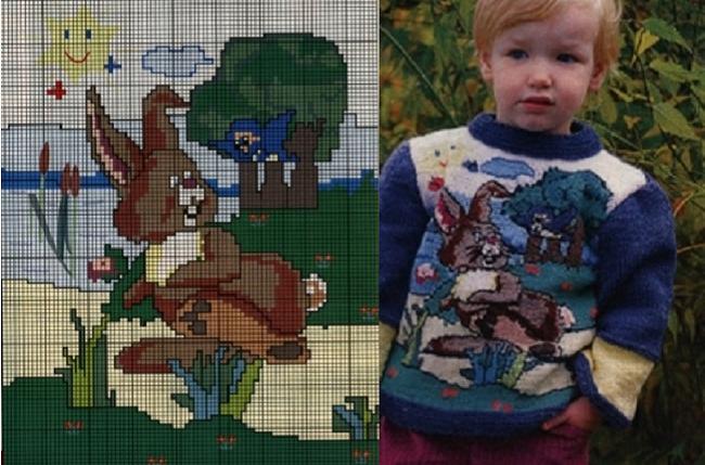 подборка схем орнаментов для вязания детской одежды
