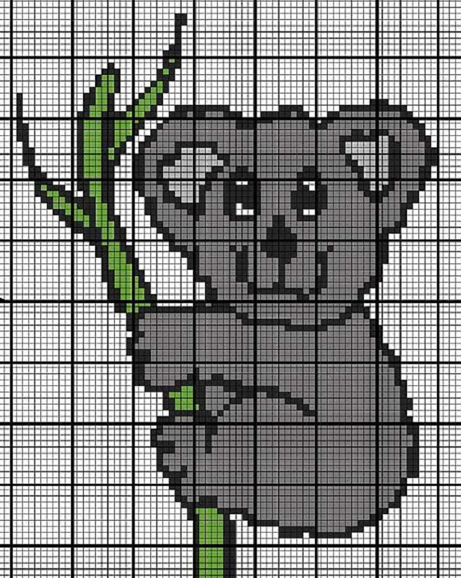 схема для вязания детского орнамента