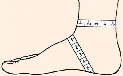 определяем размер носка