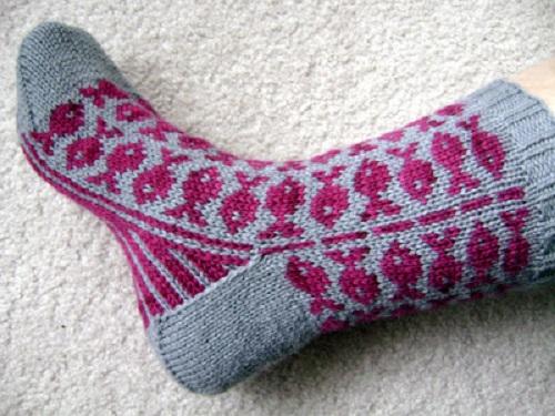учимся вязать носки