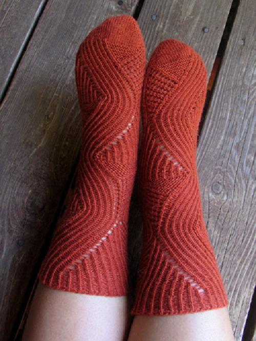 вяжем традиционные носки