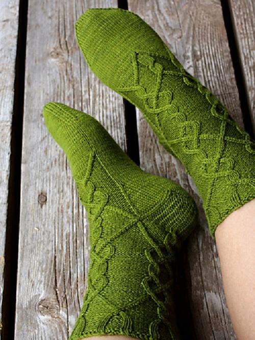идеи вязанных носков