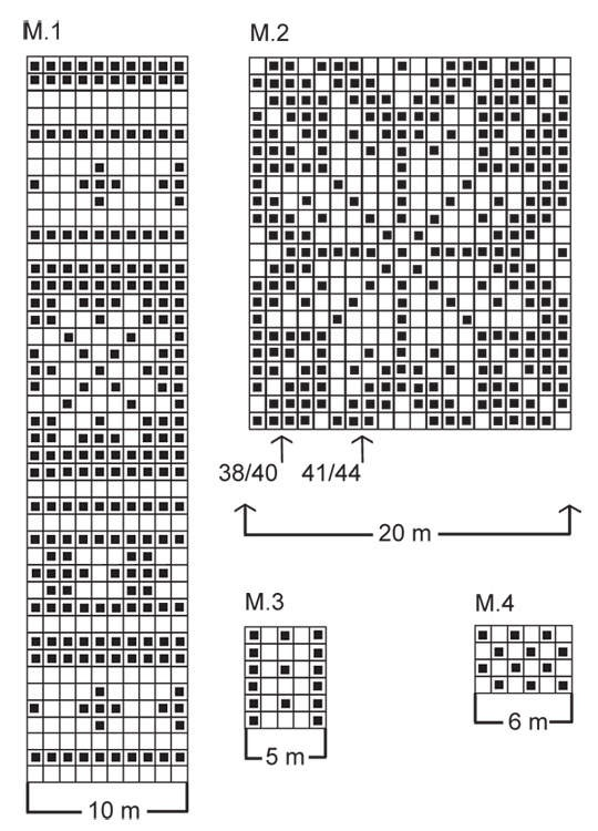 схема вязания норвежского узора