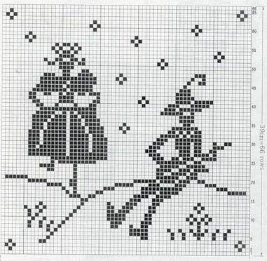 зимняя схема для вязания орнамента