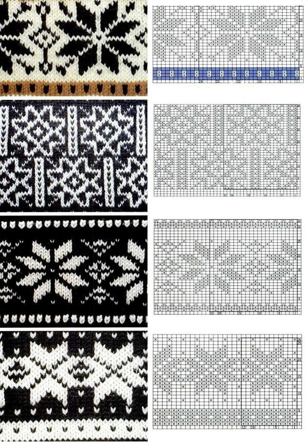 норвежские звезды для вязания спицами
