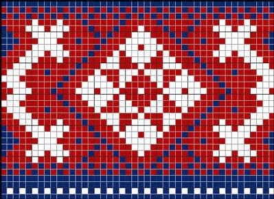 схема орнамента для вязания носков