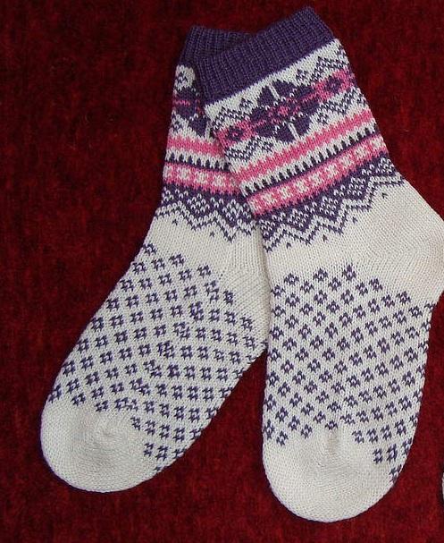 красивые носки схема вязания