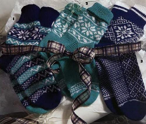 подборка схем, рисунков и моделей носков с норвежскими узорами