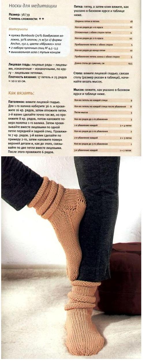 вяжем шерстяные носки своими руками