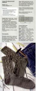 Вязание носков на спицах с узором косы