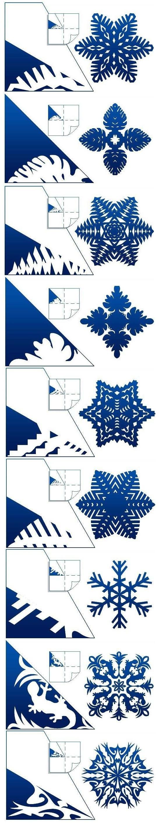 вырезаем новогодние снежинки из бумаги для украшения дома