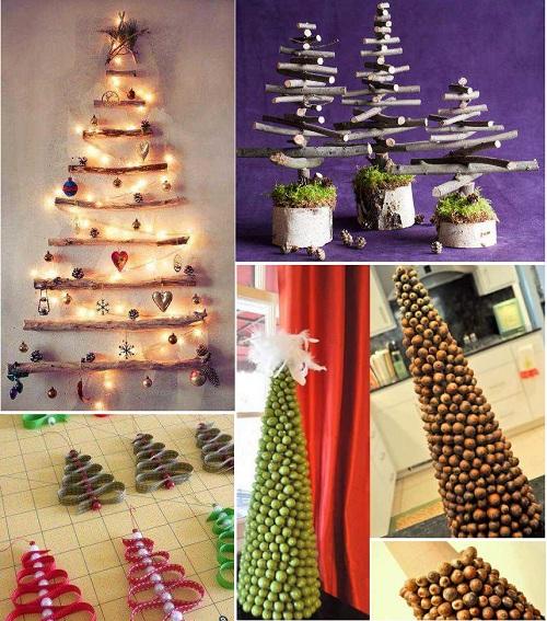 идеи для создания новогодней елки своими руками