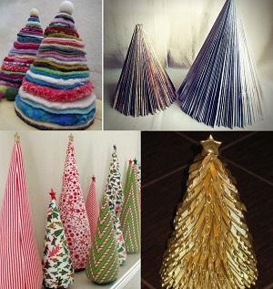 как сделать новогоднюю елку из подручных материалов, идеи, мастер класс, видео урок