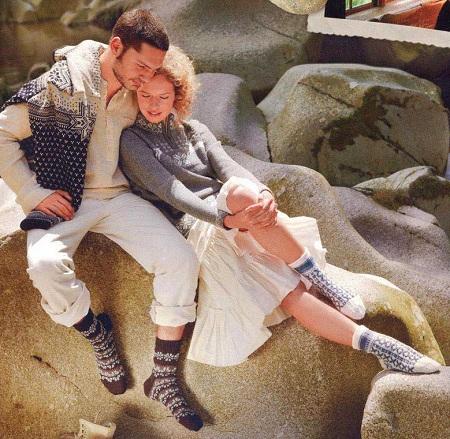 несколько моделей невероятно красивых носков связанных спицами