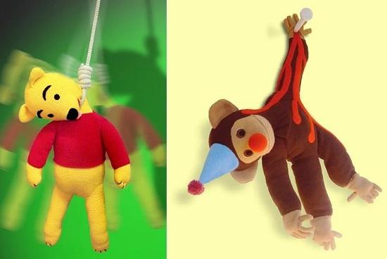 ну очень страшные игрушки связанные спицами