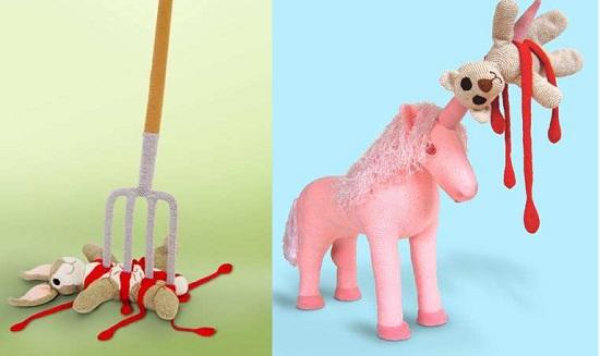жуткие вязанные игрушки немецкой вязальщицы