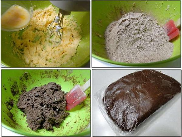 рецепт приготовления новогоднего песочного печенья украшенного шоколадной глазурью
