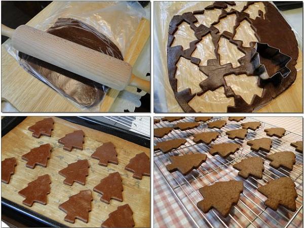 рецепт приготовления песочного новогоднего печенья в шоколадной глазури