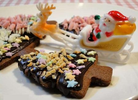рецепт новогоднего песочного печенья