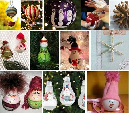 вместе с нашими детьми создадим новогодние украшения своими руками