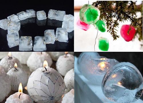 как сделать украшения из льда