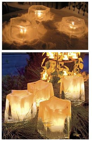 красивые ледовые светильники