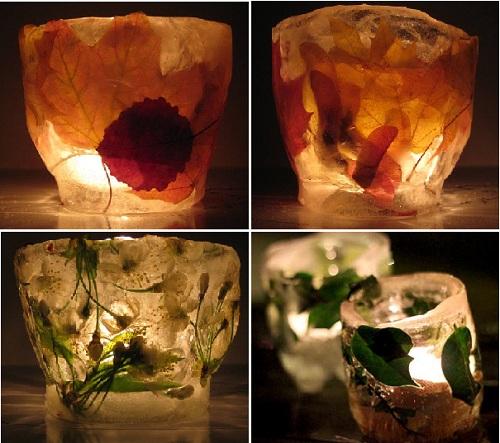 ледяные светильники сделанные своими руками