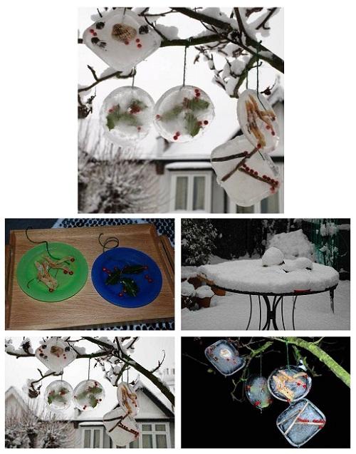 делаем украшения изо льда для уличной елки