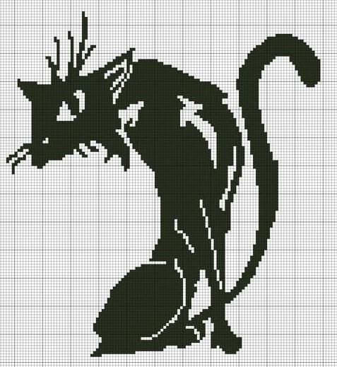 очень черный хитрый кот