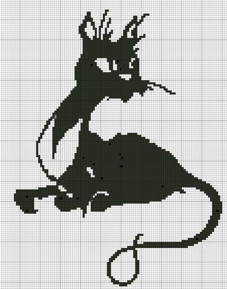 схема кошки для вязания
