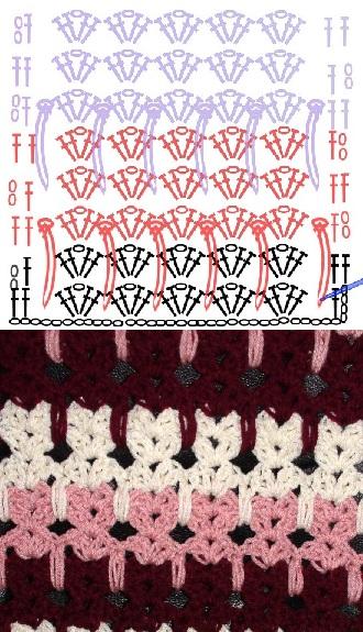 схема для вязания крючком