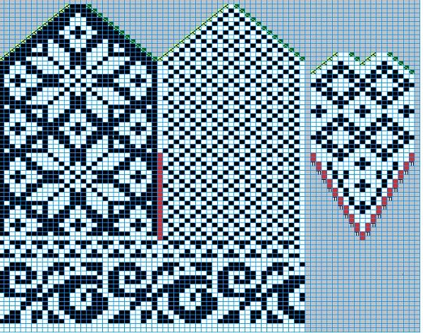 схема для вязания зимних варежек из шерстяной пряжи