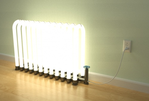 необычные светильники - радиатор