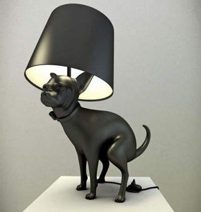 необычный светильник в форме собаки